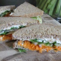 Greek-Style Veggie Sandwich